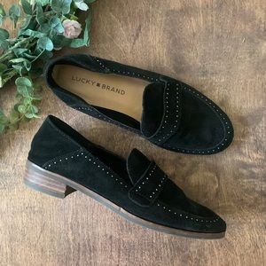 Lucky Brand Shoes - Lucky Brand Crestan Black Suede Loafers | Size 5.5